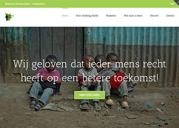 WordPress Website Stichting Sadiki