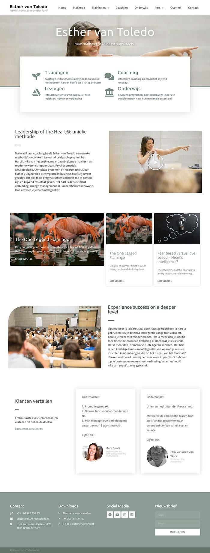 Homepage Esther van Toledo