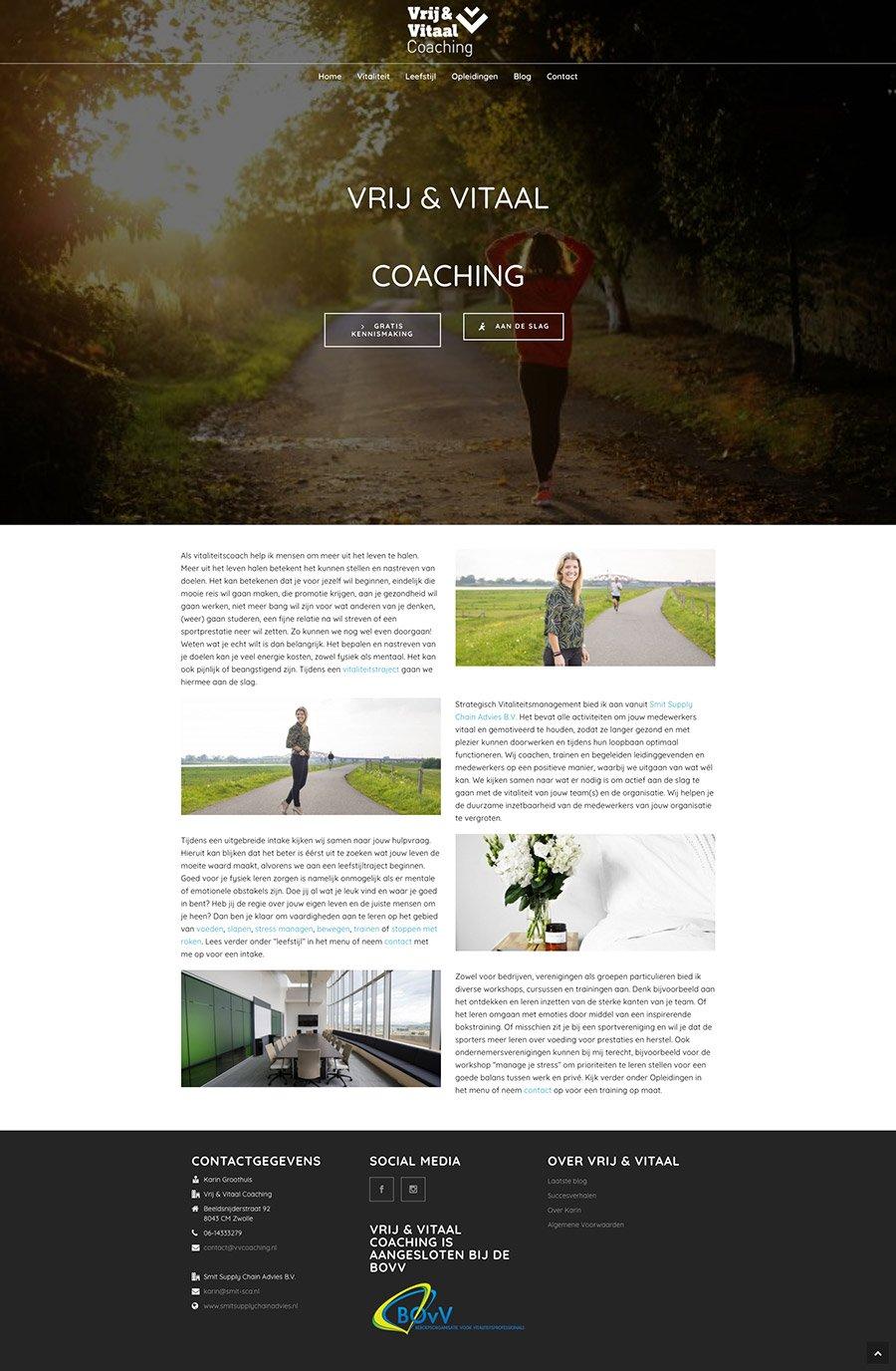 Vrij en Vitaal Coaching Websote